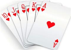 扑克牌记号
